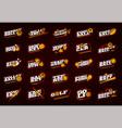 Mega sport logotype set modern professional sport