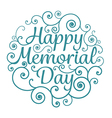 Memorial day card circle typographical vector image
