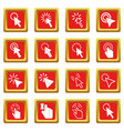 mouse pointer icons set red vector image vector image
