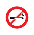 no smoking sign or smoke icon vector image