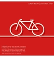 Outline bicycle background vector image vector image
