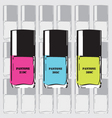 pantone nail polish vector image vector image