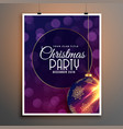 party flyer template for christmas festival season vector image