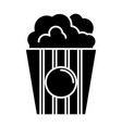 popcorn icon black sign on vector image