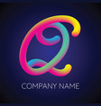 q letter logo icon blending color vector image