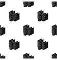 ring binders icon in black style isolated on white vector image