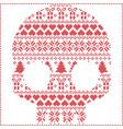 scandinavian pattern sugar skull vector image vector image