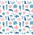 seamless background on theme sea vector image vector image