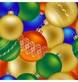 seamless pattern christmas decorations vector image vector image