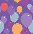 Seamless pattern with balloons Purple pink blue vector image vector image