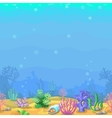 seamless underwater landscape in cartoon style vector image vector image