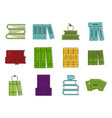 set book icon set color outline style vector image vector image