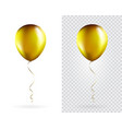 set golden balloons on transparent white vector image