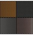 Set metal texture Metal grid vector image vector image