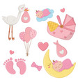 set newborn baelements vector image