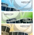 Set of banners with film reel vector | Price: 1 Credit (USD $1)