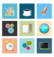 Set of Colorful Business Icons Team Work vector image vector image