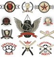 Set of mma boxing street fight emblems and design vector image vector image