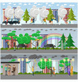 set of weather concept posters banners vector image vector image
