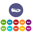 shoe icons set flat vector image vector image