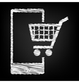 Shoping on smart phone sign vector image