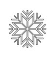 snowflake ornament icon vector image vector image