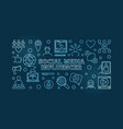 social media influencer blue outline vector image