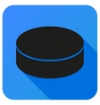 Sport icon with ice hockey in flat style vector image