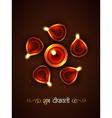 stylish diwali festival vector image vector image