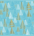 stylized christmas tree seamless pattern vector image vector image