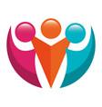 teamwork symbol silhouette icon vector image