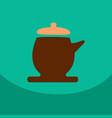 the teapot icon tea ceremony symbol flat vector image vector image