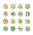 Thin Line Icons For Travel and Resort vector image