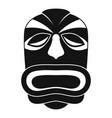 tiki idol mask icon simple style vector image vector image