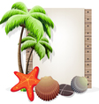 Tropical vacation background vector image vector image