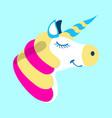 unicorn icon fantasy world of the unicorn cartoon vector image vector image