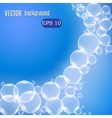 Wave of bubbles vector image vector image
