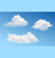 white fluffy clouds in blue sky vector image