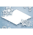 winter card and snow vector image vector image