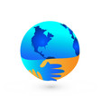 worldwide handshake peaceful agreement icon vector image