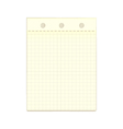 Yellow pieces of paper on a white vector image