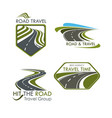 road travel and tourism icons set vector image