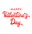 valentines day brush lettering vector image