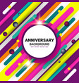 anniversary color template vector image vector image