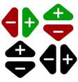 arrows in opposite directions symbol of arrows in vector image vector image