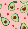 avocado and hearts vector image vector image