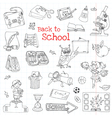 Back to School Doodles - Hand-Drawn vector image vector image