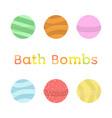 bath bomb cartoon set nature organic soap vector image vector image