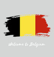 belgium watercolor national country flag icon vector image
