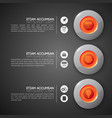 business infographic design concept vector image vector image